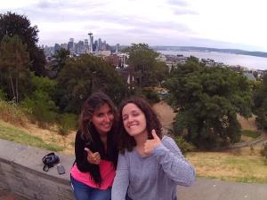Con Laura en Seattle