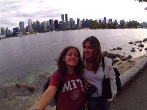 Con Laura en Vancouver