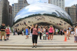 Yo en Chicago (Cloud Gate)