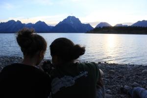 En el lago junto al cámping en el Gran Tetón